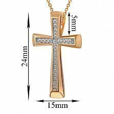 Крестик из золота с бриллиантами Благодать