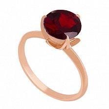 Золотое кольцо Азиза с гранатом