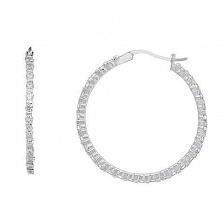 Серебряные серьги кольца Виктори