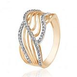 Золотое кольцо Мадагаскар с фианитами