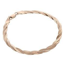 Серебряный позолоченный браслет  4мм 000056414