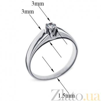 Кольцо из белого золота с бриллиантом Дамара R0471/A03В01F02C01K02