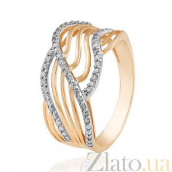 Золотое кольцо Мадагаскар с фианитами EDM--КД0487