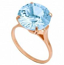 Золотое кольцо с голубым топазом Диодора