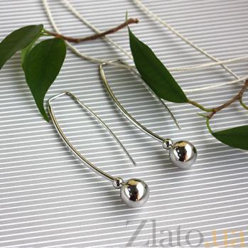 Золотые серьги Амина в белом цвете SVA--2001645102/Без вставки