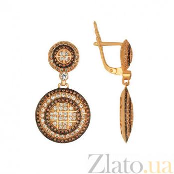 Серьги-подвески из красного золота Графиня VLT--ТТ232-2