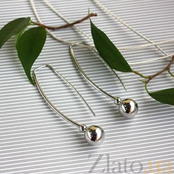 Серьги из белого золота Амина SVA--2001645102/Без вставки