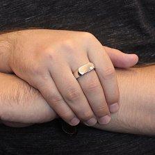 Серебряный перстень Элвис с фианитом