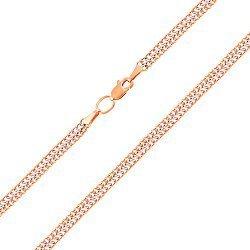 Цепочка из красного золота в плетении Вияна, 4мм 000004122