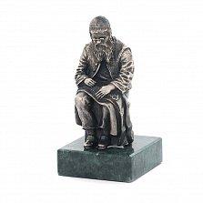 Серебряная статуэтка ручной работы Еврейский портной в очках