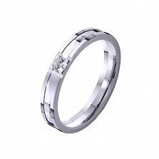 Золотое обручальное кольцо Рассвет любви с фианитом