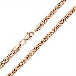 Цепочка из красного золота в византийском плетении 000003469