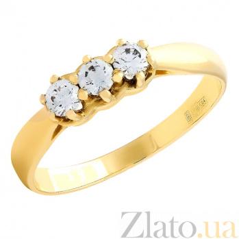 Кольцо из желтого золота с кристаллами Swarovski Велма 2К171-0059