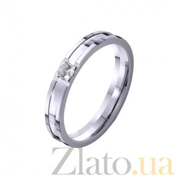 Золотое обручальное кольцо Рассвет любви с фианитом TRF--4221150