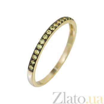 Золотое кольцо с желтыми сапфирами Солнечный берег 000032295