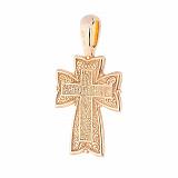 Серебряный православный крест Магия небес
