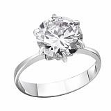 Серебряное кольцо Южные звезды с белым фианитом
