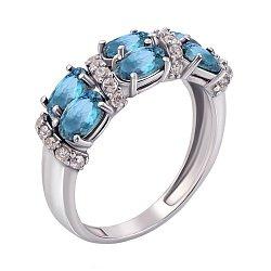 Серебряное кольцо Фиолент с топазами и фианитами