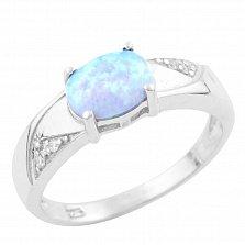 Серебряное кольцо Сольвейг с опалом и фианитами