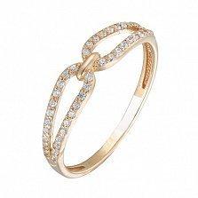 Золотое кольцо с цирконием Wendy