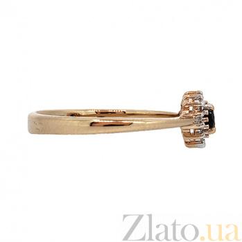 Золотое кольцо Джина в красном цвете с сапфиром и бриллиантами ZMX--RDS-5566_K