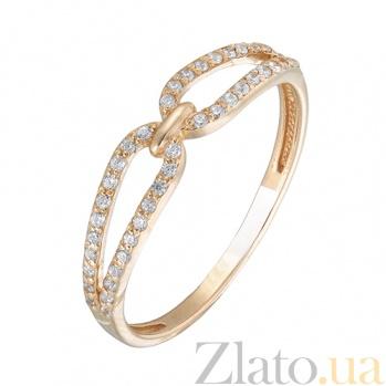 Золотое кольцо с цирконием Wendy 12791