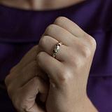 Золотое кольцо с кристаллами Swarovski Монпансье