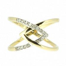 Золотое кольцо в жёлтом цвете с бриллиантами Либа