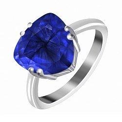 Кольцо из серебра с фианитом Альфинур