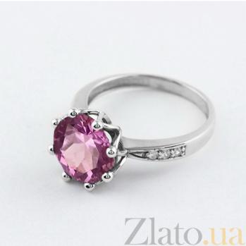 Золотое кольцо с аметистом и фианитами Колумбине VLN--112-1429-4*