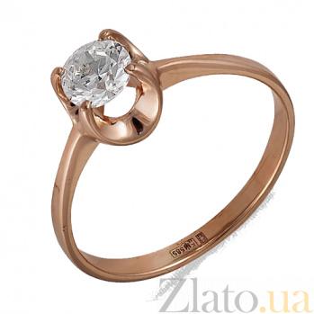 Золотое кольцо с фианитом Феррара 000022900