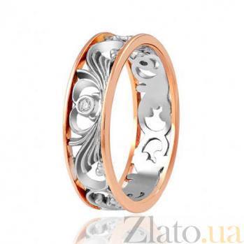 Золотое кольцо с бриллиантами Ажурные узоры EDM--КД7518