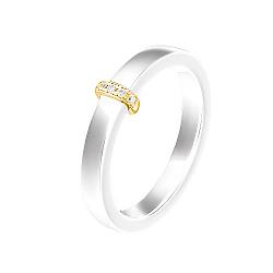 Кольцо из керамики Лорена в желтом золоте с бриллиантами 000078730