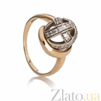Золотое кольцо с фианитами Версаль 000030626