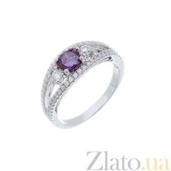 Кольцо серебряное с фиолетовым цирконом Взор AQA--RJ2847-Am