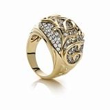Кольцо из серебра и золота с цирконием Элизабет