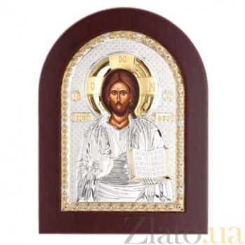 Икона Иисуса Христоса серебряная с позолотой AQA--MA/E1107BX