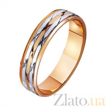 Обручальное кольцо из комбинированного золота Счастливая звезда TRF--441121