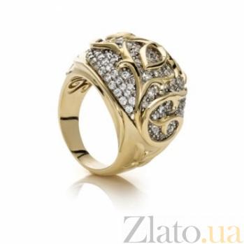 Кольцо из серебра и золота с цирконием Элизабет 000030600