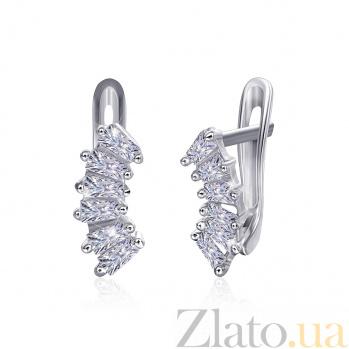 Серебряные серьги с цирконием Мелодика SLX--СК2Ф/014