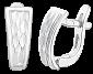 Серебряные серьги Чешуя SLX--С2/199
