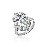 Серебряное кольцо с фианитами Ильдана