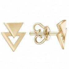 Серьги Triangles в желтом золоте