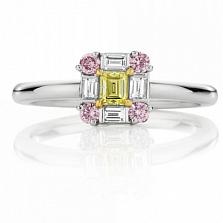 Кольцо Argile-Q с бриллиантами, розовыми и желтыми сапфирами