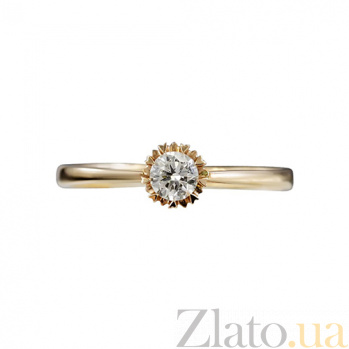 Золотое помолвочное кольцо с бриллиантом Избранная 000026932
