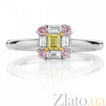 Кольцо Argile-Q с бриллиантами, розовыми и желтыми сапфирами R-cjQ-W-5s-4d