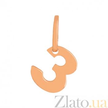 Золотая подвеска Буква З VLN--314-1735