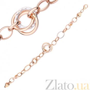 Золотой браслет Эжени SVA--4212362112/Фианит/Цирконий