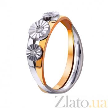 Золотое обручальное кольцо Цветы нашей любви TRF--442994