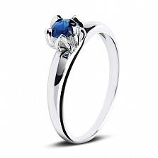 Золотое кольцо Лареина в белом цвете с сапфиром